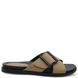 Los Cabos Roe Taupe Women's Flat Slide