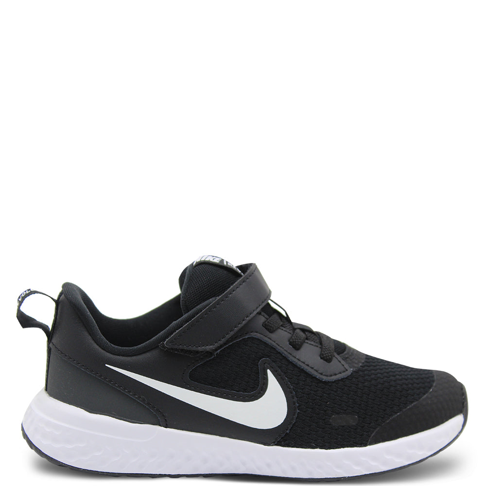 Nike Revolution 5 PS Black/White Runner
