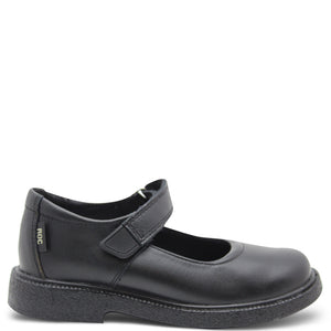 Roc Juicy Kid's Velcro Black School Shoe