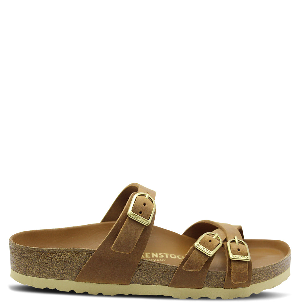 Birkenstock Franca Big Buckle Cognac Oiled Women's Slide