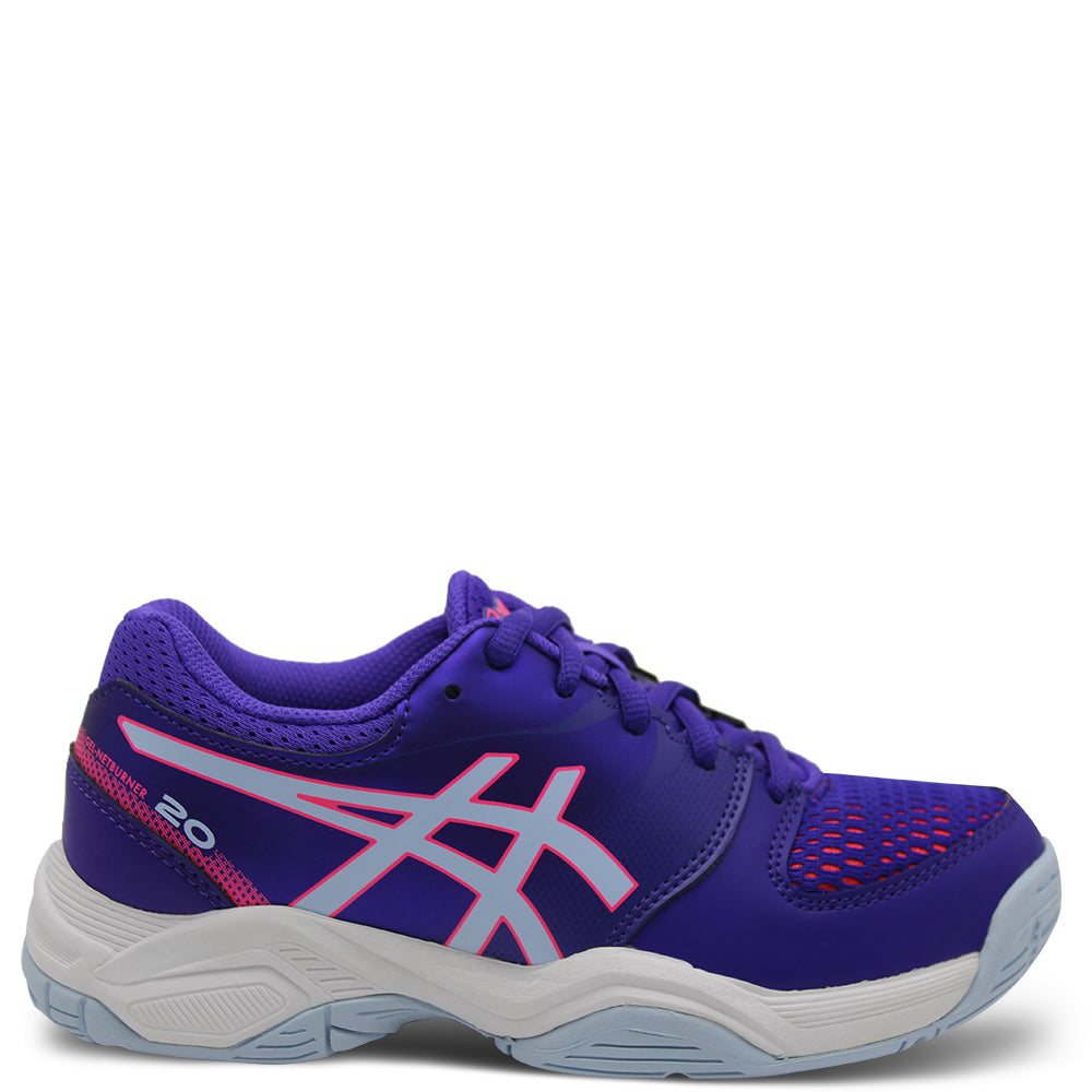 Asics Netburner 20 GS Kids Purple Netball Shoe