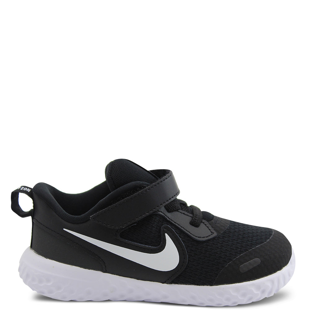 Nike Revolution 5 Toddler Black/White Running Shoe