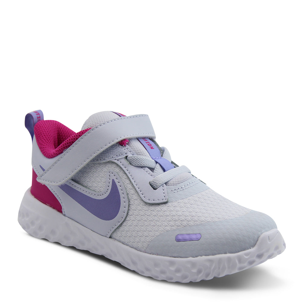 Nike Revolution 5 Toddler Grey/Purple Running Shoe