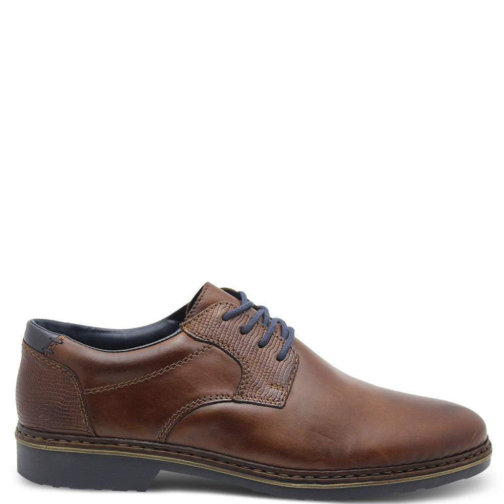 Rieker 16541 Mens Dress lace up Nut Brown