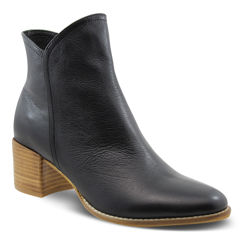 Django & Juliette Mockas Women's Heel Ankle Boots Black/Natural
