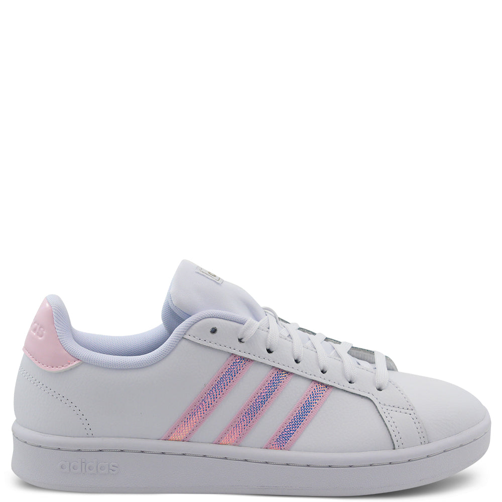 Adidas Grand Court Womens Sneakers White Pink