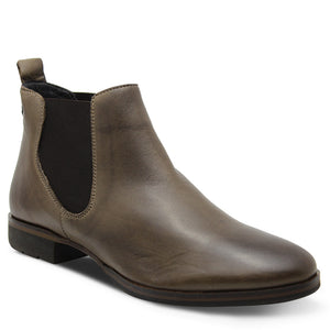 Eos Footwear Gala Women's Flat Leather Boots Kangaroo brown