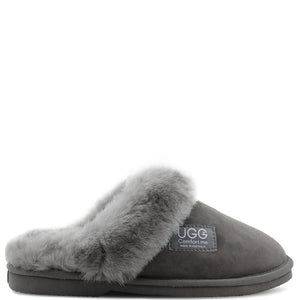 Comfort Me Ugg Wombat Women's Scuff Sheepskin Slippers Grey