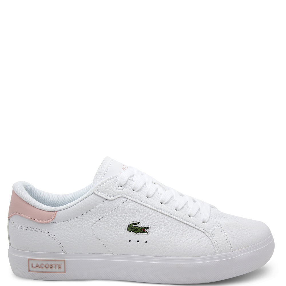 Lacoste Powercourt Women's Sneakers White Pink Leather Sneakers