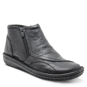 Cabello 5250-27  Women's Flat Leather Boot Black
