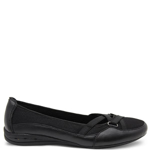 Planet Footwear Fergie 3 Women's Flat Slip On Casual Shoe Black