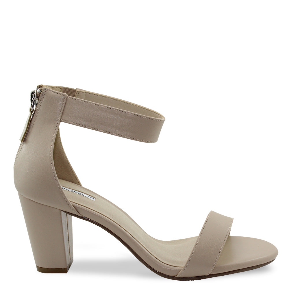 Isabella Brown Cameo womens heels nude