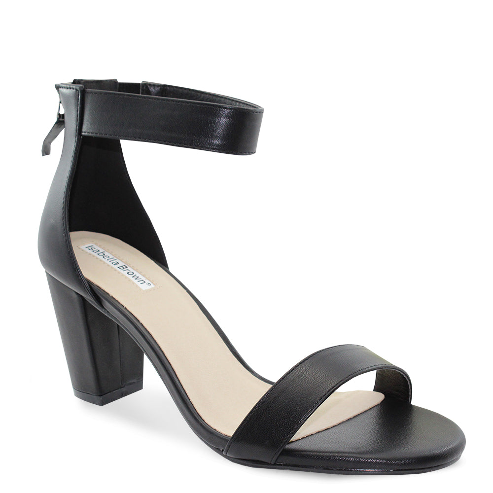 Isabella Brown Cameo womens heels black