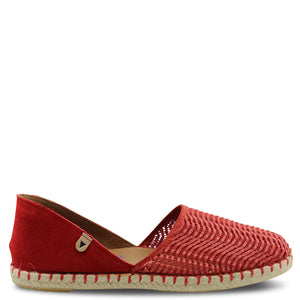 Neo Carmen womens flat shoes red
