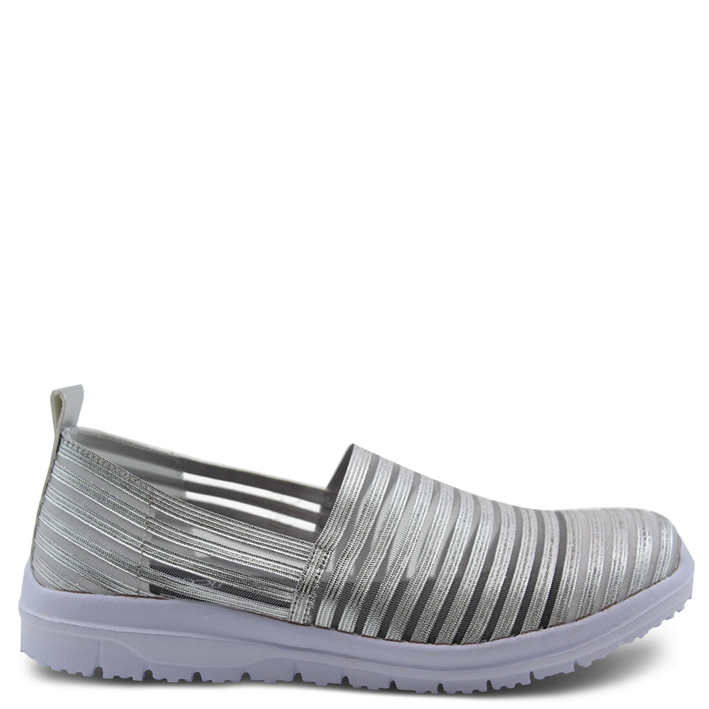 Diana Ferrari Camero womens casual slip on shoe silver