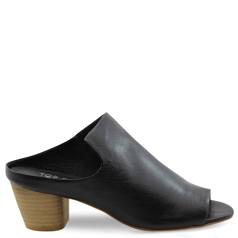 Top End Breeze Black womens heel slide