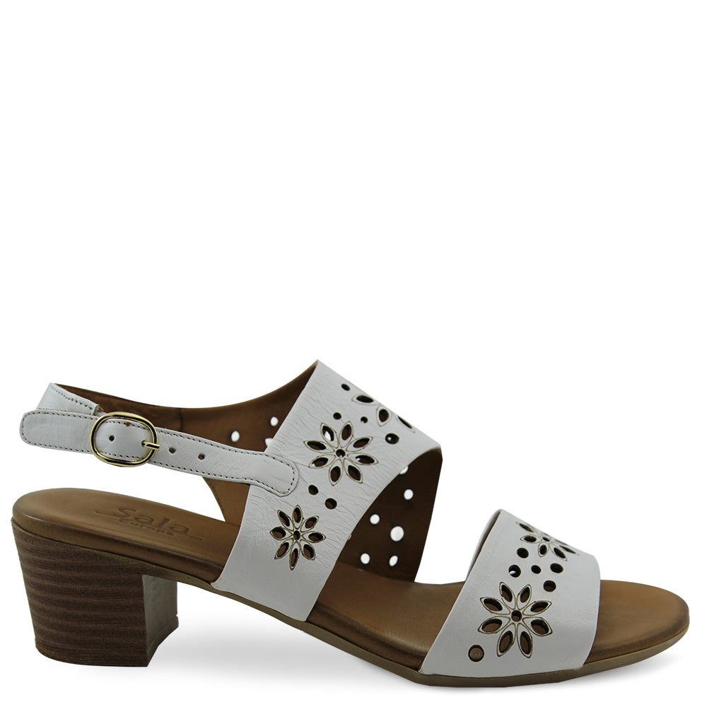 Sala Tumble White Womens sandal