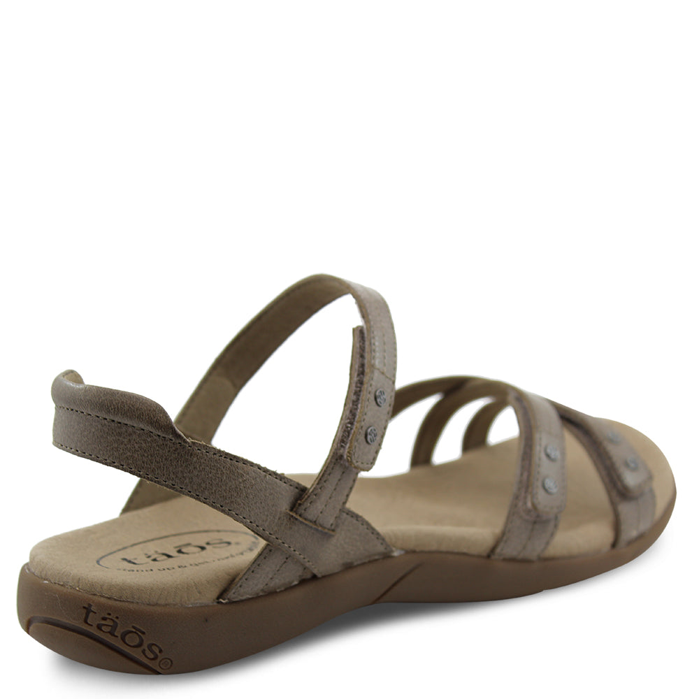Taos Happy womens flat sandal grey