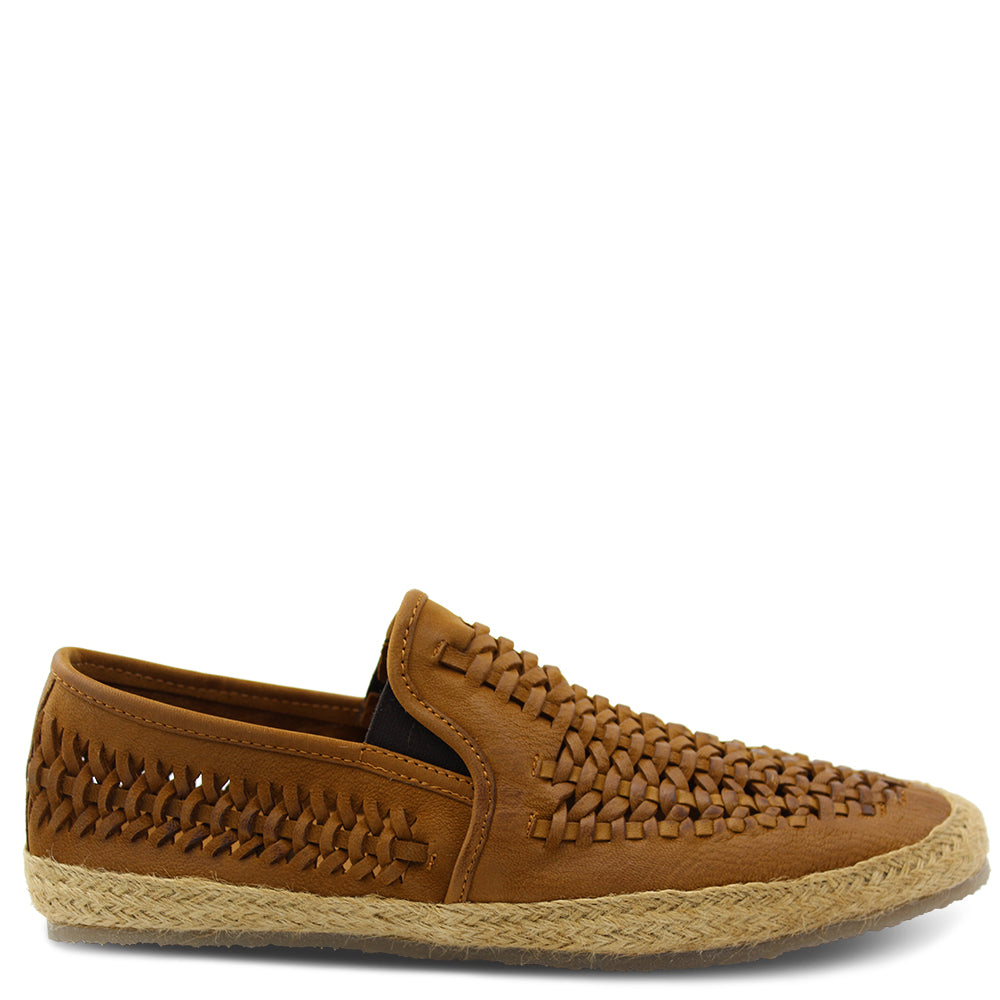 Wild Rhino Weave Tan Mens Slip On