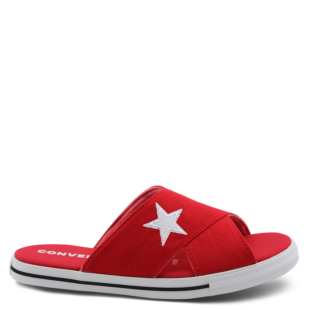 Converse One Star Red Womens Slide