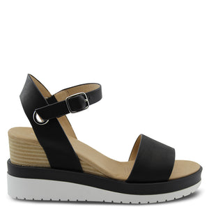 Jo mercer Kenzie Black Wedge Sandal