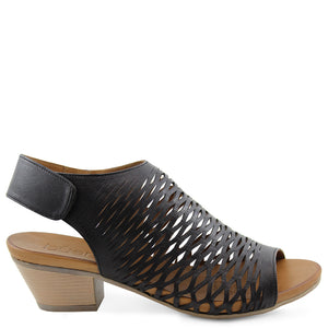 Bueno Ruby Black Womens Sandal