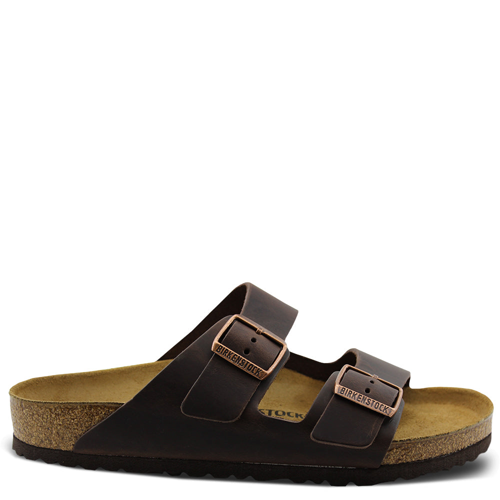 Arizona Birko Flor Habana leather slide