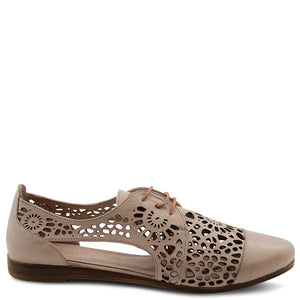 Sala Kate womens flat brogue nude