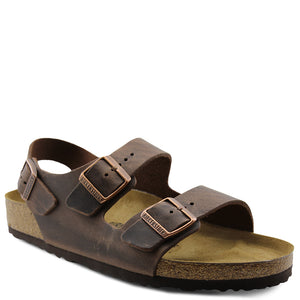 Birkenstock Milano habana Leather Mens sandal