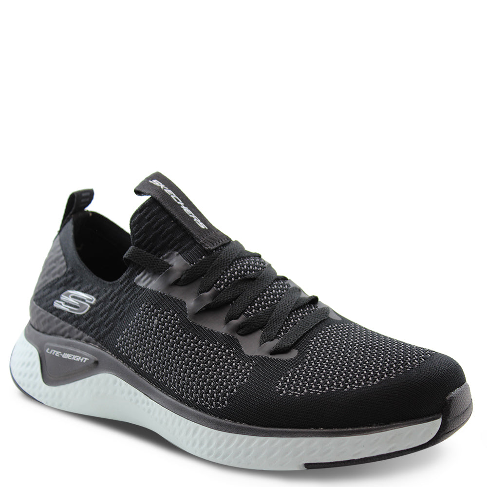 Skechers Solar Fuse Black Mens Lace up