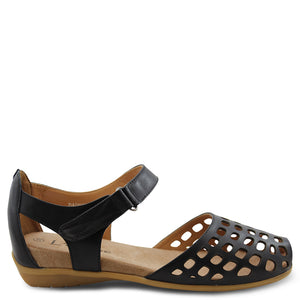 L'eclipse Daquiri womens flat sandal black