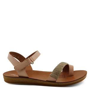 Los Cabos Brenna Nude womens  flat sandal