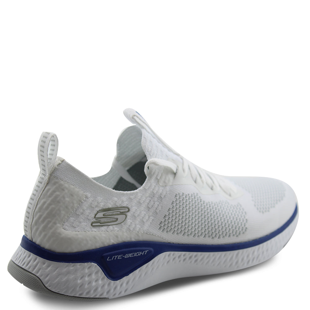 Skechers Solar Fuse White/Blue Mens Lace up