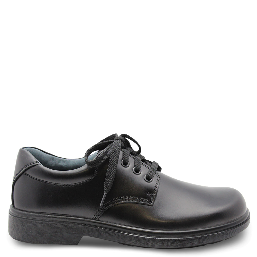 Clarks Daytona Junior Black lace up school shoe