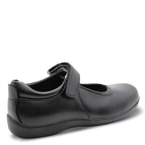 Clarks Elise velcro school shoe black