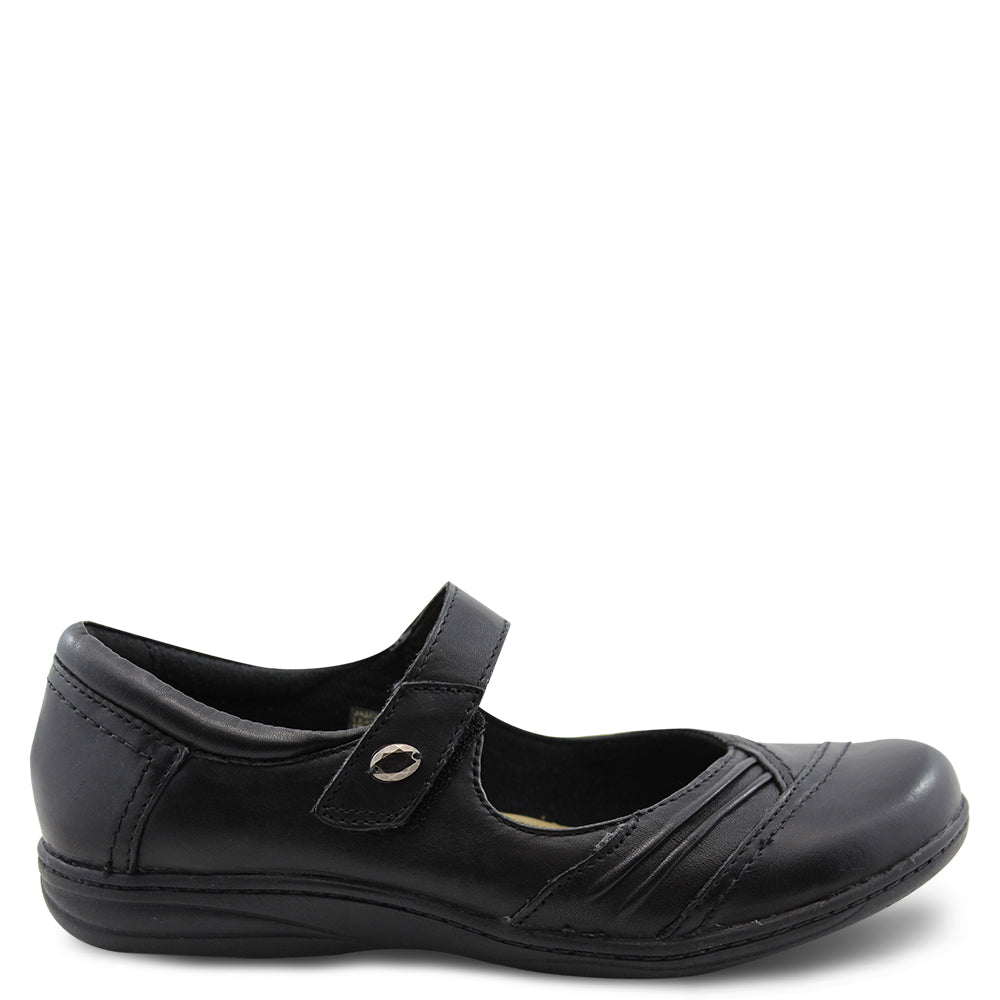 Planet Jamie womens flat work shoe Black
