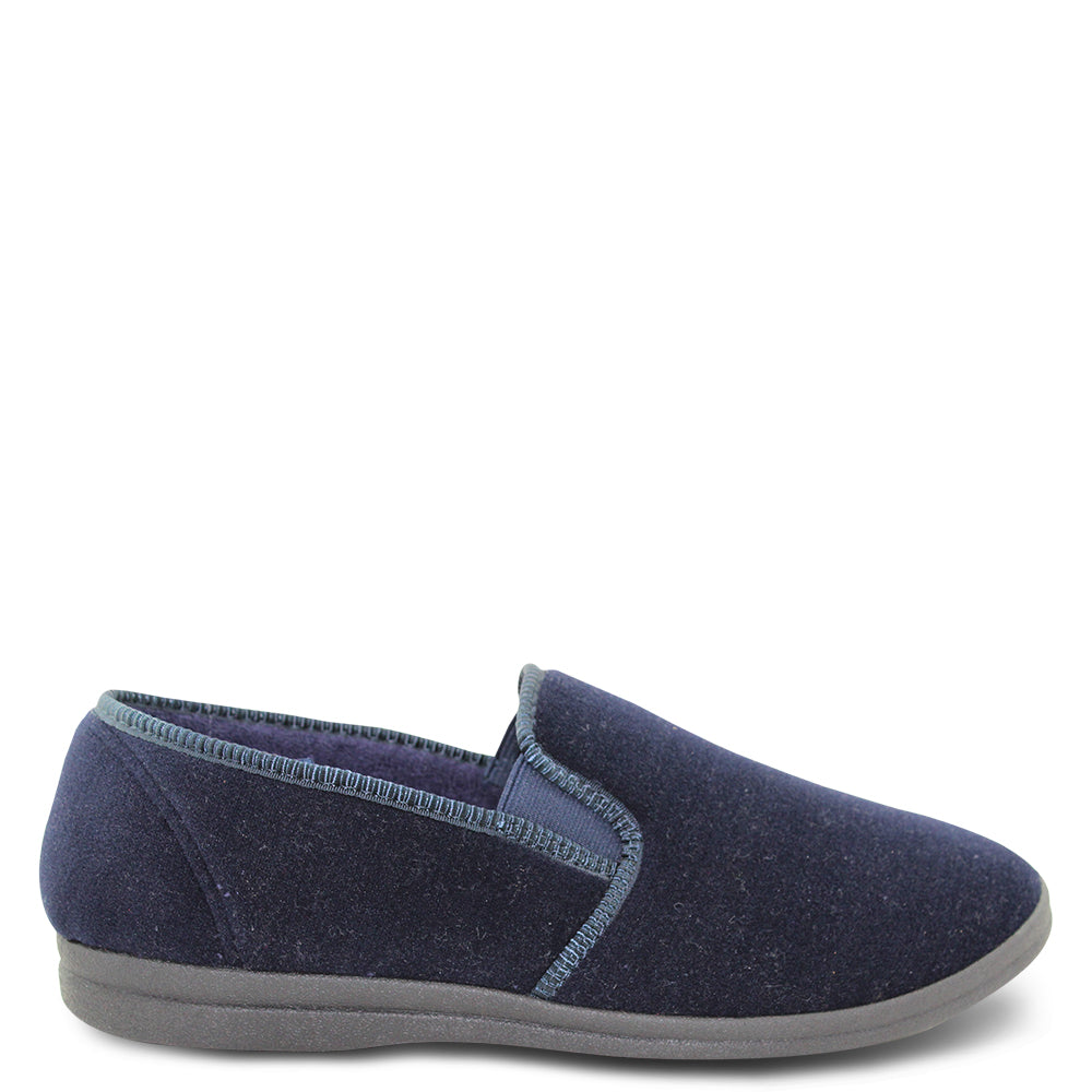 Grosby Percy Navy Mens Slipper