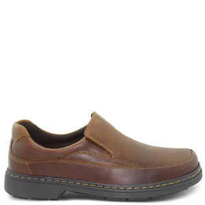 Saramanda Mellow Brown Mens Slip On