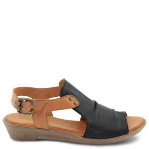 Miss M Aliah Black Womens Sandal