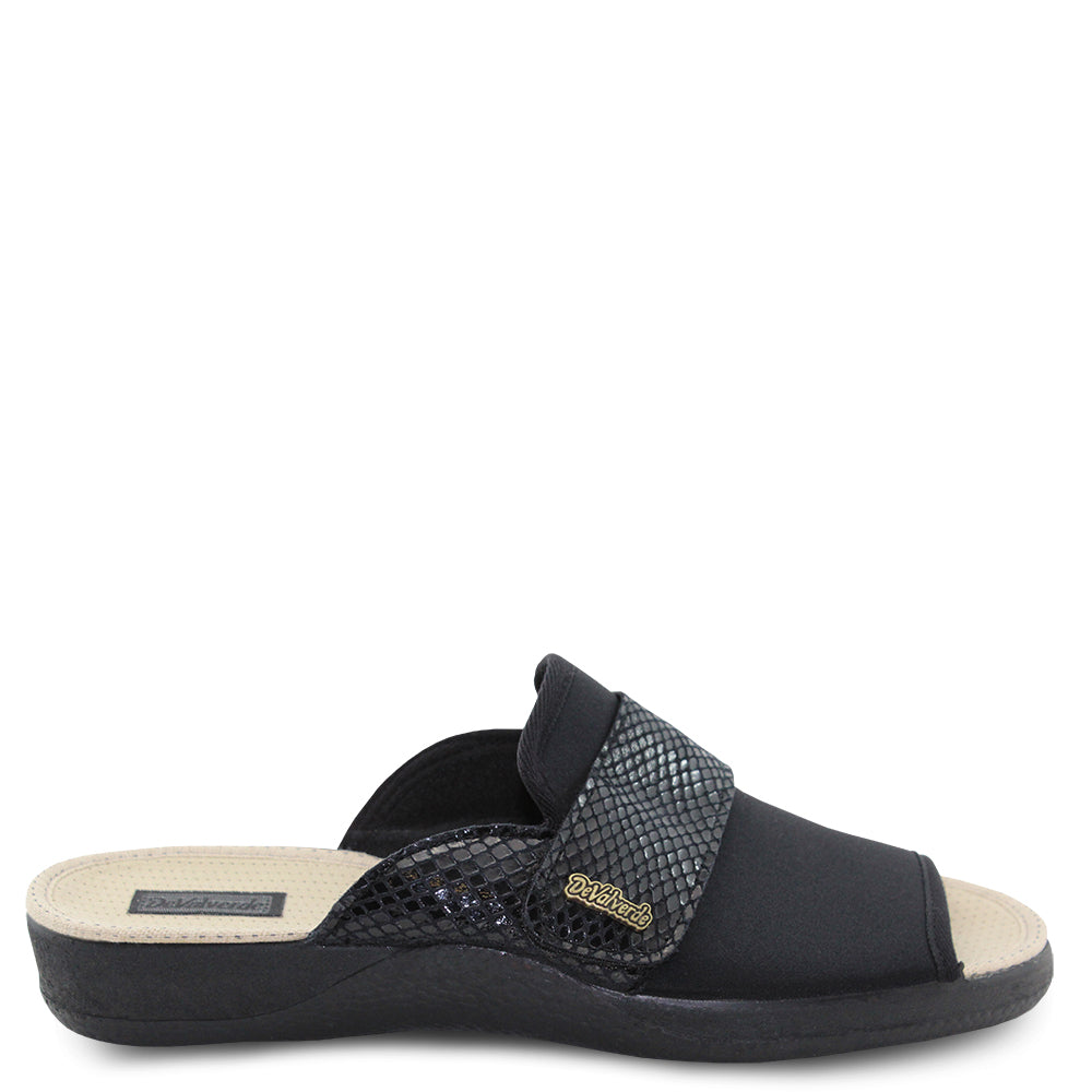 Devalverde 151  black womens slipper