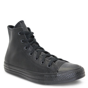 Converse All Star Hi black mono leather