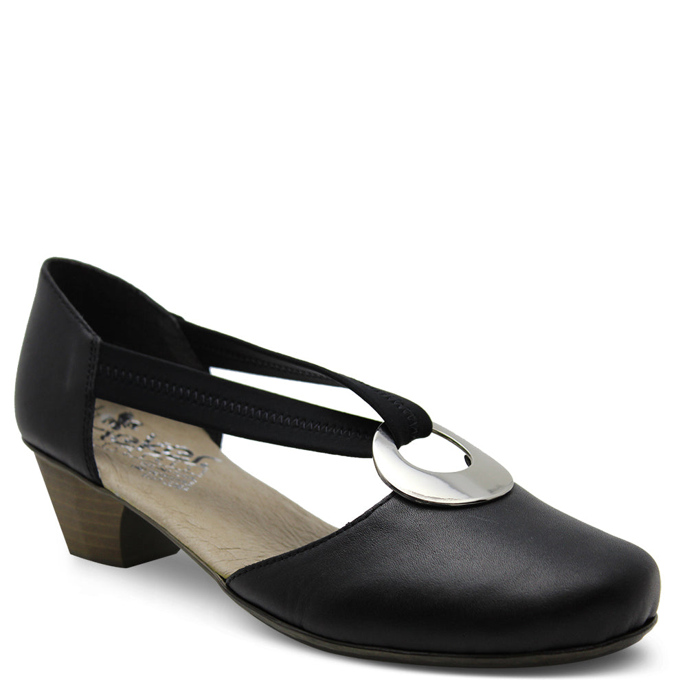 Rieker 41735 black women's low heel