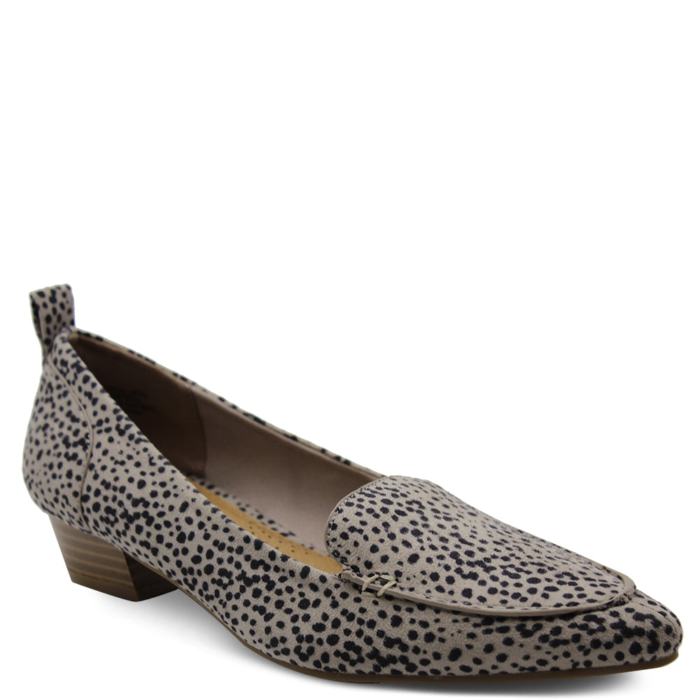 Step On Air Esteem womens low heel shoes leopard print