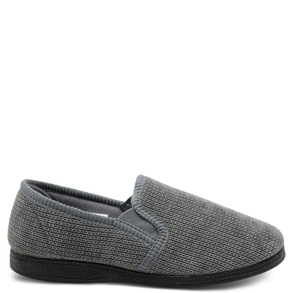 Grosby Patrick Grey Mens Slipper