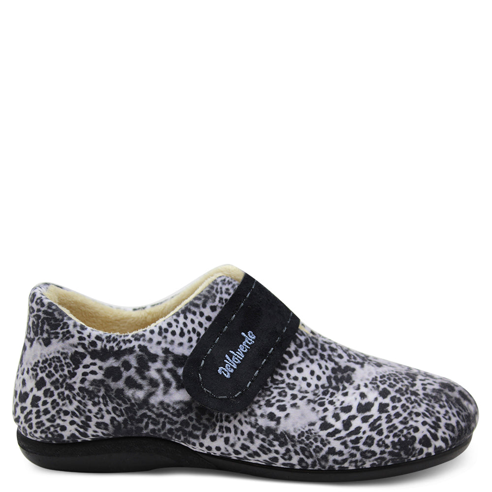 Devalverde 9746 Snow Leopard womens slipper