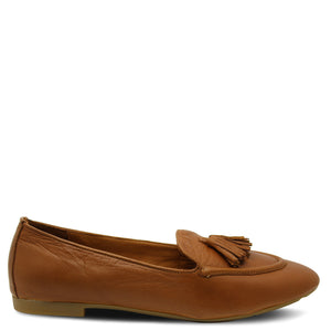 Sala  illy  tan womens flat court