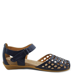 L'eclipse Daquiri womens flat sandal Navy