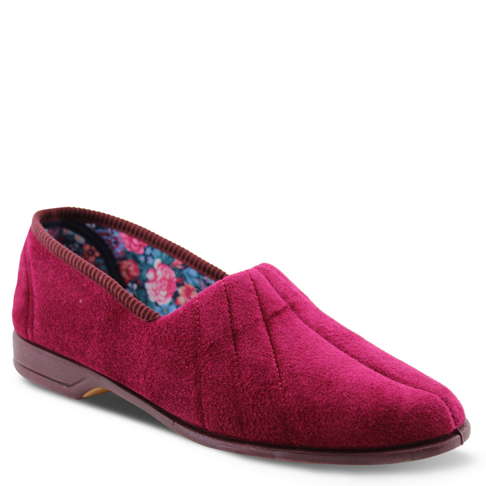 Euroflex Koala Burgundy Womens Slipper