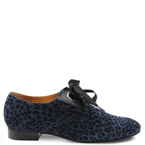 Mamzelle Zorka leopard Navy Lace Up