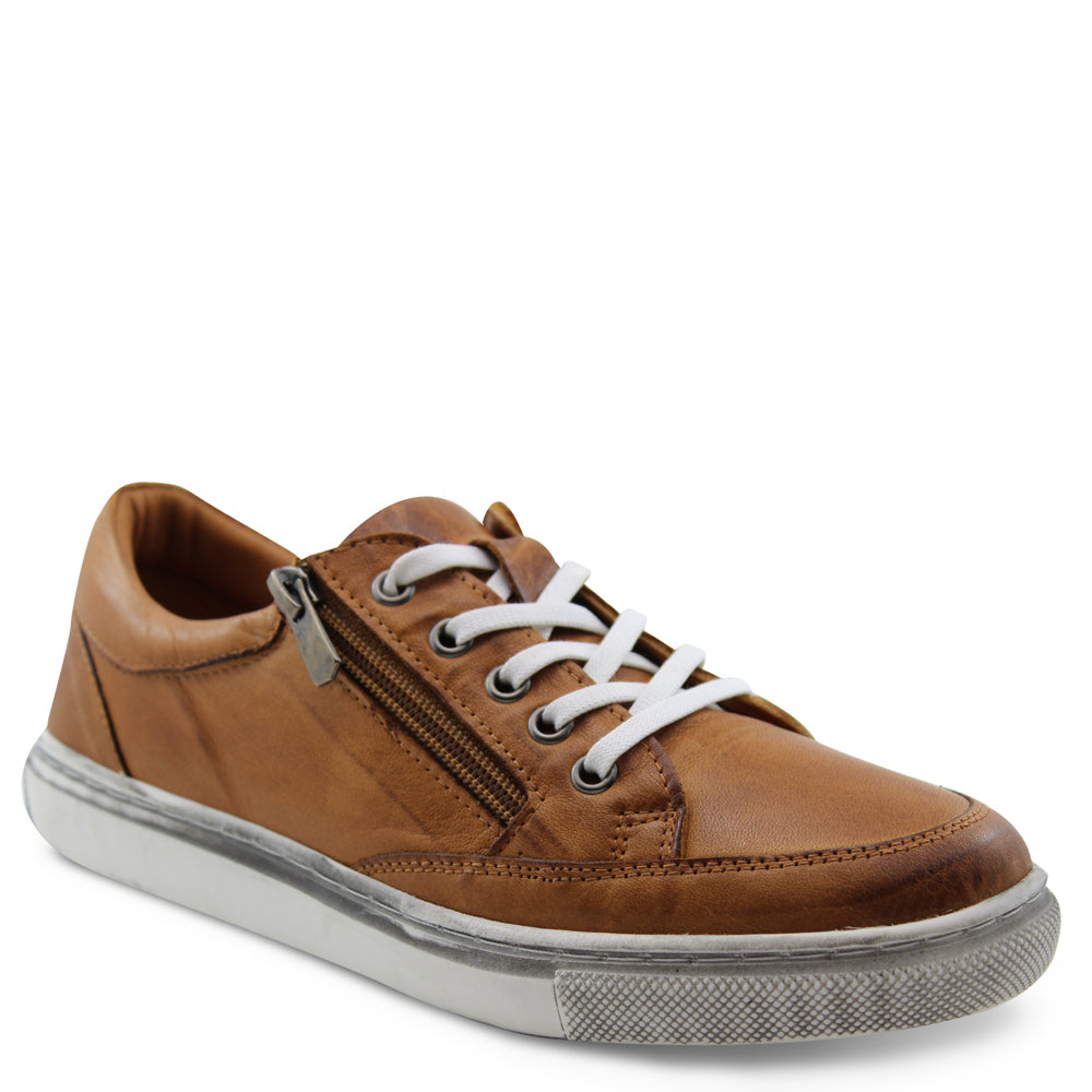 Sala Ronnie Womens Tan Sneaker